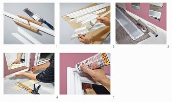 Instructions for making a mirror frame