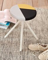 A homemade tangram-style stool