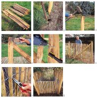 Instructions for building a paling fence