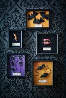 Halloween arrangement of accessories