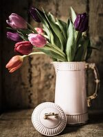 Tulips in vintage jug