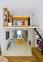 Kleine Maisonettewohnung im Industriestil