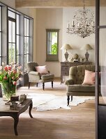 Living room in light French style