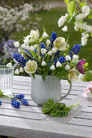 Leucojum aestivum ( Knotenblume ), Helleborus orientalis ( Lenzrosen )