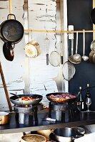 Kitchen of Stedsans Restaurant, Ostergro, Copenhagen, Denmark