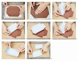 Instructions for making a folded paper box