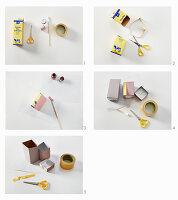 Making a desk tidy from a tetra pack