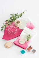 Decorating napkins for Easter