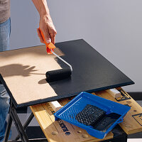 Painting an MDF board with chalkboard paint