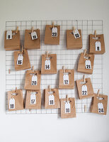 Advent calendar handmade from paper bags