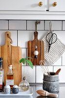 Kitchen accessories in natural shades
