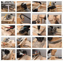 Instructions for making a chair from pallets