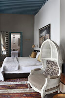 Armchair in elegant bedroom