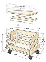 Instructions for making stacking storage crate
