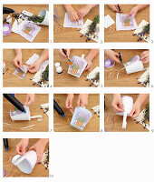 Instructions for decorating a small bucket with a transfer