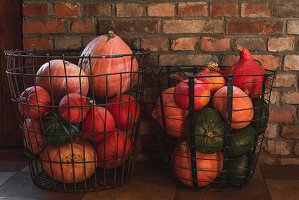 Wire Baskets With Squash Bites