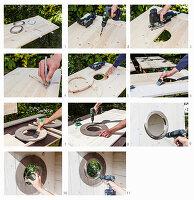 Anleitung für Bullaugen in einem selbstgebauten Strandkorb aus Holz