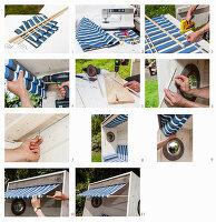 Anleitung für die Markise an einem selbstgebauten Strandkorb aus Holz