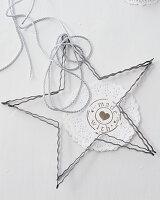 Wire star ornament