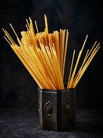 Spagetti in a rustic tin