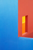 Blue and orange walls