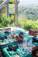 Table setting for Autumn braai (South Africa)