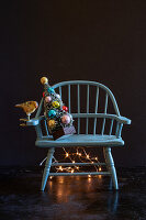 Christmas tree on chair