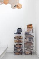 Transparente Schuhbox