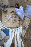 Handmade lavender sachets, dreamcatcher, gift cards and gift tags