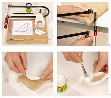 Instructions for making wooden bird ornament