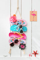 Sunglasses holder made from flipflops