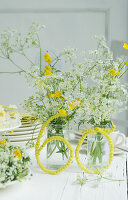 Bouquet of cow parsley and buttercups for 60th birthday