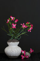 Modern arrangement of dianthus