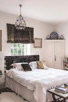 Lush and exotic bedroom with Venetian velvet