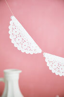 Garland of lacy paper doilies