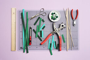 Materials for making Christmas-tree ornaments