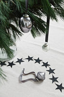 Silver Christmas-tree bauble