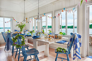 Dining room set for party