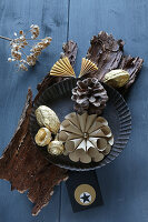 Various items for making Christmas decorations