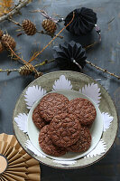 Homemade, gluten-free almond and chocolate cookies