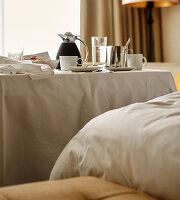 Breakfast served in hotel room