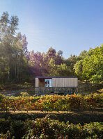 Pavilion House in a vineyard