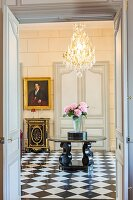 France, Gironde, Bordeaux, The large house of Bernard Magrez, luxury hotel founded in 2014 offering 6 prestigious rooms, lobby