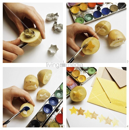 Making potato prints