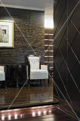 Contemporary arm chair in hallway