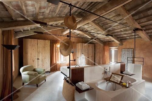 Bekannt Schlafzimmer mit Bad en suite unter – Bild kaufen – 11130408 QN42
