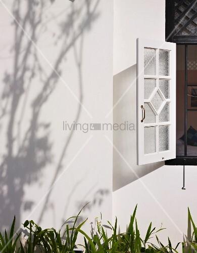 Detail of window at 23 Love Lane Hotel, Georgetown, Penang, Malaysia