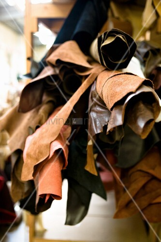 Scraps and bolts of leather