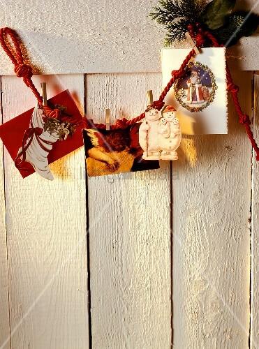 Weihnachtliche Deko: Verschiedene Weihnachtskarten