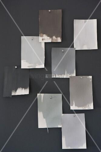 Farbkarten Mit Verschiedenen Grautonen Bild Kaufen 11404454
